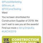 TD CELEBRATE AT CONSTRUCTION AWARDS #UKCW2019